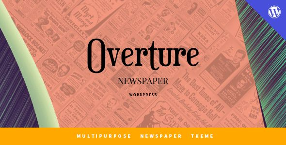 Overture - WordPress Magazine News Theme Overture is an elegant and clean WordPress News and Magazine theme. It has two distinct homepage layouts and contains 10 featured homepage sections and 17 custom widgets that you can use to create a layout of your choice. There are three different styles of the posts, several custom page templates and a custom plugin included. With so many features, you can customize the theme as you want.