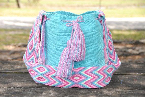 Bohemian Tribal Bag Wayuu Bags Boho Bag Wayuu Mochilas Boho Bags  (LARGE) ~ wybag-213