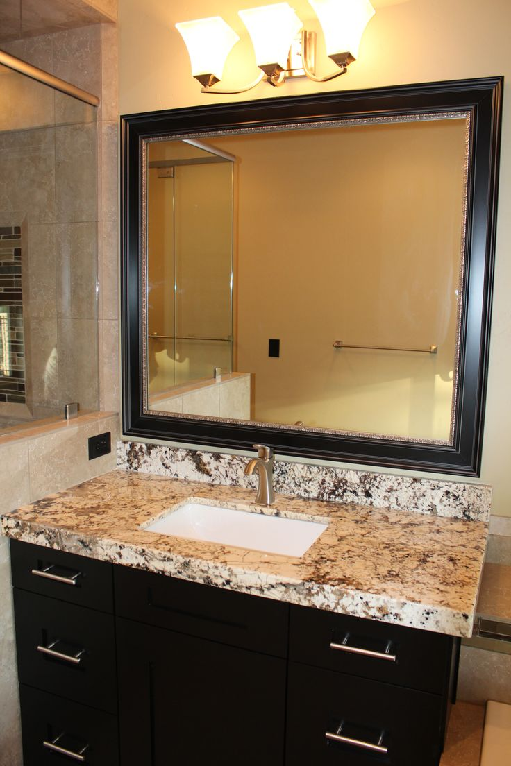 This Craftsman Style Mirror Frame Matched The Cabinet Style Perfectly We  Just Added A Little