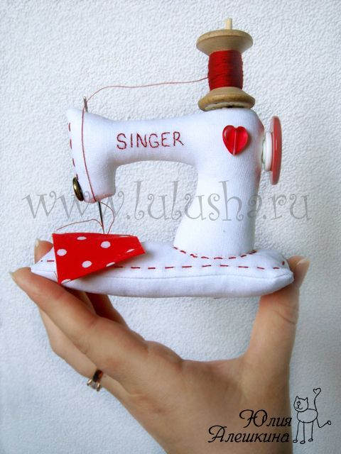 Sewing machine pincushion--idea only no pattern
