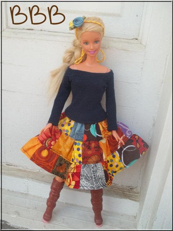Barbie Clothes Outfit Navy Blue Long By BarbieBoutiqueBasics