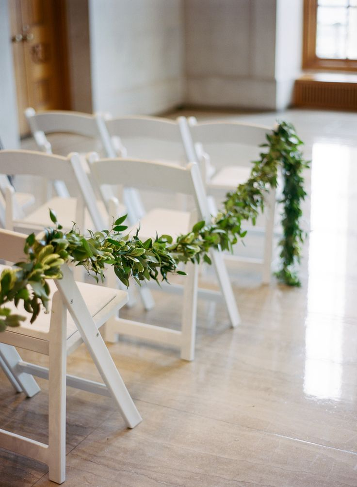 Nashville Wedding Floral Design // Garland as an aisle marker