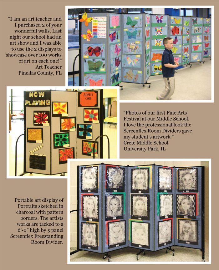 Portable Art Exhibition Stands : Screenflex artist display boards help you create an art