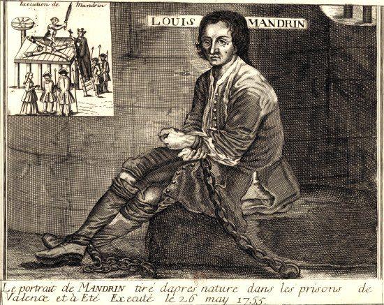 Louis Mandrin dans les prisons de Valence, et son exécution le 26 mai 1755