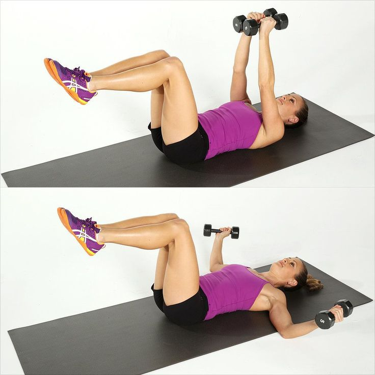 Lying Chest Fly move looks relaxing, but it'll give your chest a little lift.