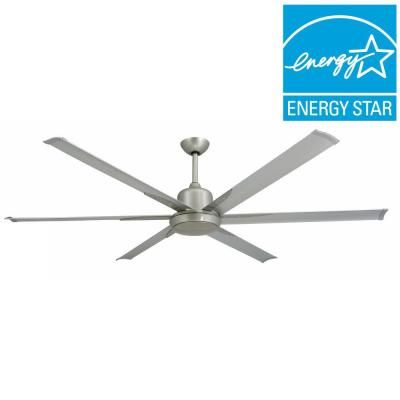 TroposAir Titan 72 in. Indoor/Outdoor Brushed Nickel Ceiling Fan and Light-88251+88278 - The Home Depot