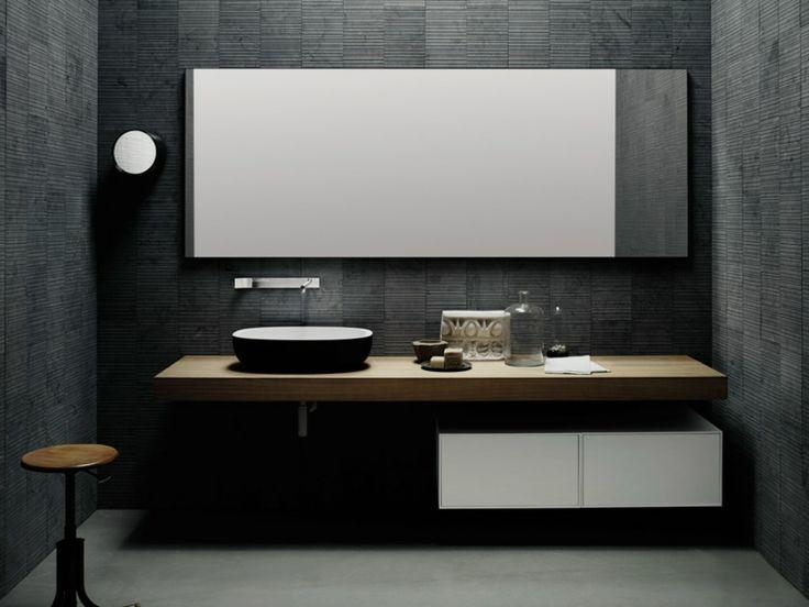 Piastrelle bagno nere top bagno mattonelle pietra bagni moderni
