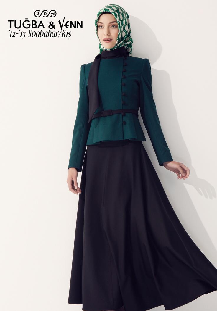 Tuğba & Venn '12-'13 Sonbahar/Kış. Hijab. Jacket with Skirt