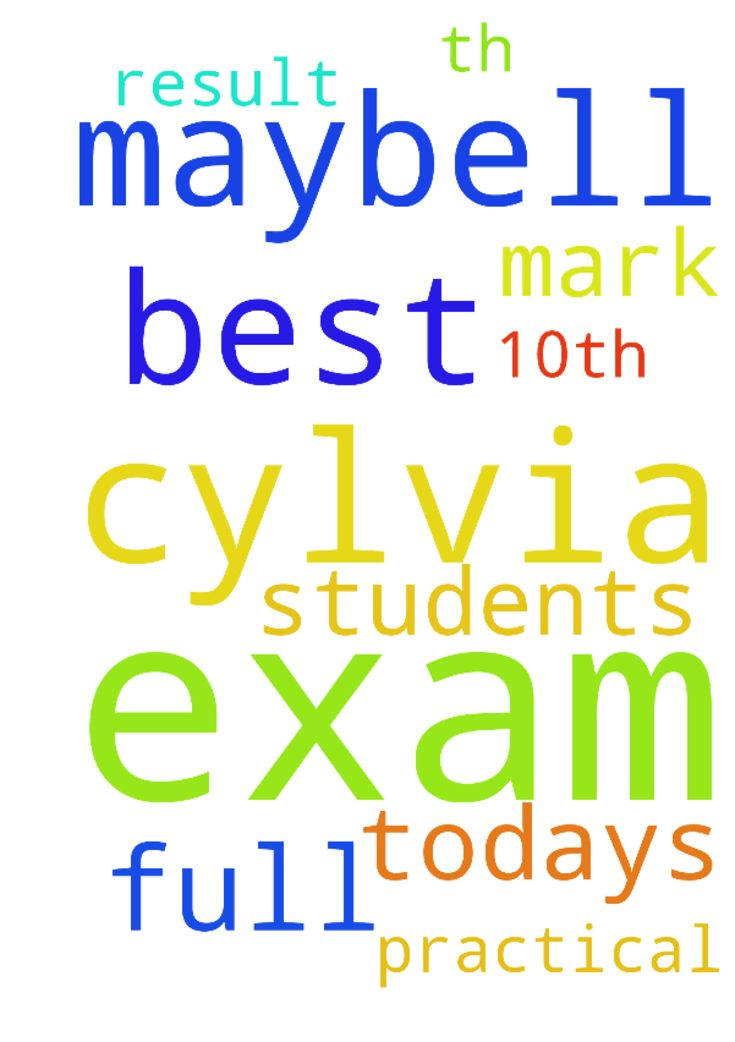 Pray for cylvia maybell for her 10th exam the best -  Pray for cylvia maybell for her 10th exam the best result. Pray for today's practical exam to get full mark for all students.  Posted at: https://prayerrequest.com/t/5Rt #pray #prayer #request #prayerrequest