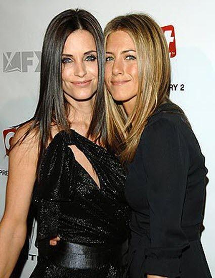 Courtney Cox and Jennifer Aniston. Best friends.