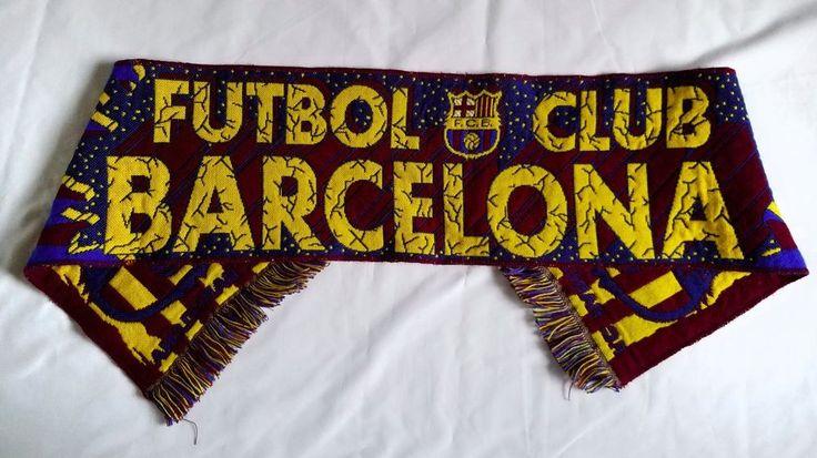 """Barcelona Futbol Club Scarf Football Soccer 51"""" Tassels Warm Sports Unisex #Barcelona"""