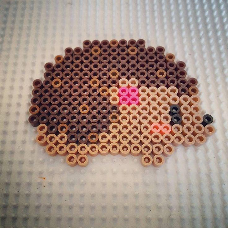 Hedgehog perler beads by lisakc17