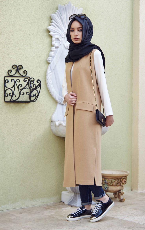 Terzi Dükkanı Kaşe Yelek instagram: terzi_dukkani #tesettürgiyim #tesettür #hijab #hijabfashion