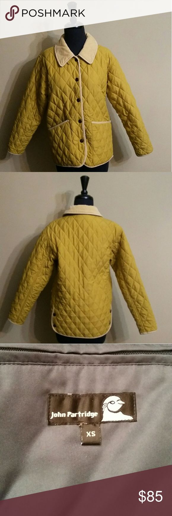 John Partridge Jacket Mustard colored John Partridge quilted jacket. Is a great almost new condition.  It's one hundred percent polyester and washable. John Partridge Jackets & Coats Puffers