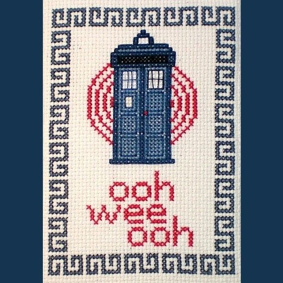 Ooh Wee Ooh  Doctor Who Inspired Cross Stitch Pattern by elfstitch, $5.00