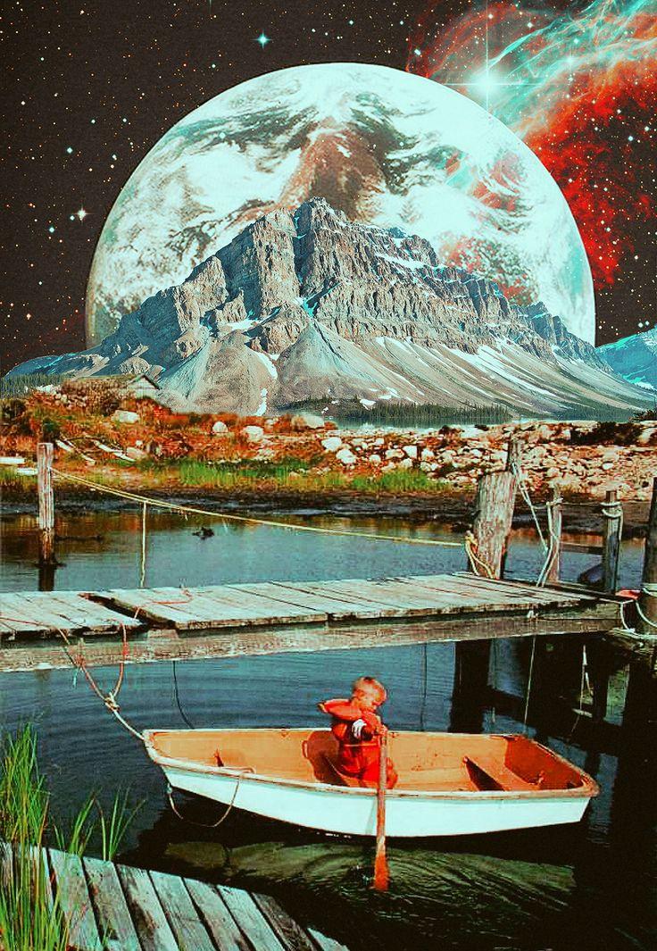 Retro Girl Wallpaper Retrospective Nostalgia Collage Art By Ayham Jabr