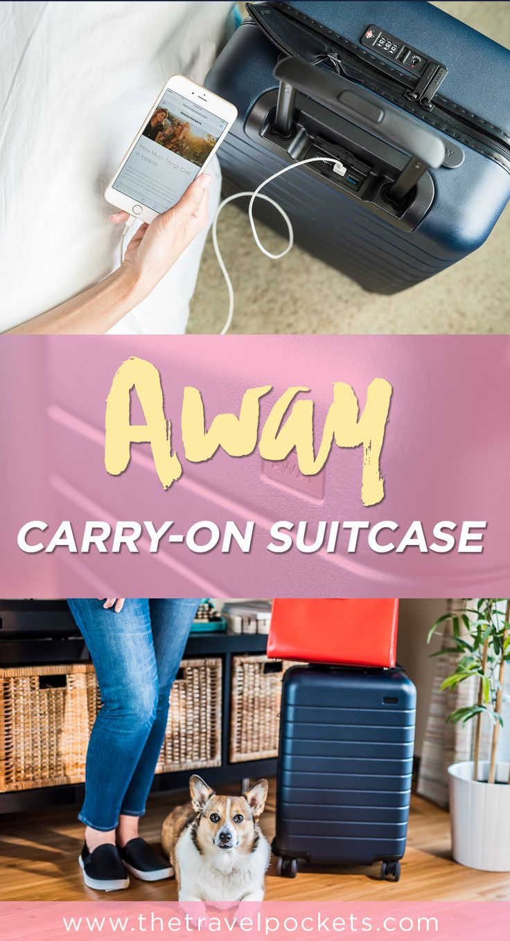 We have fallen in love with our new carry-on suitcase from AWAY. We were in need of a new suitcase and heard about this new, high-tech travel gear through social media and knew we had to get one for ourselves.