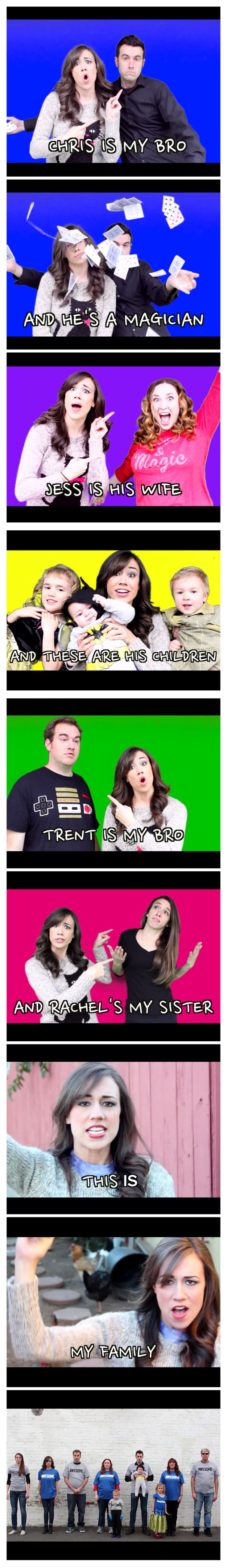 Love this video go watch it right now look up my family music video colleen ballinger. Let me know if u watched it -Jodie