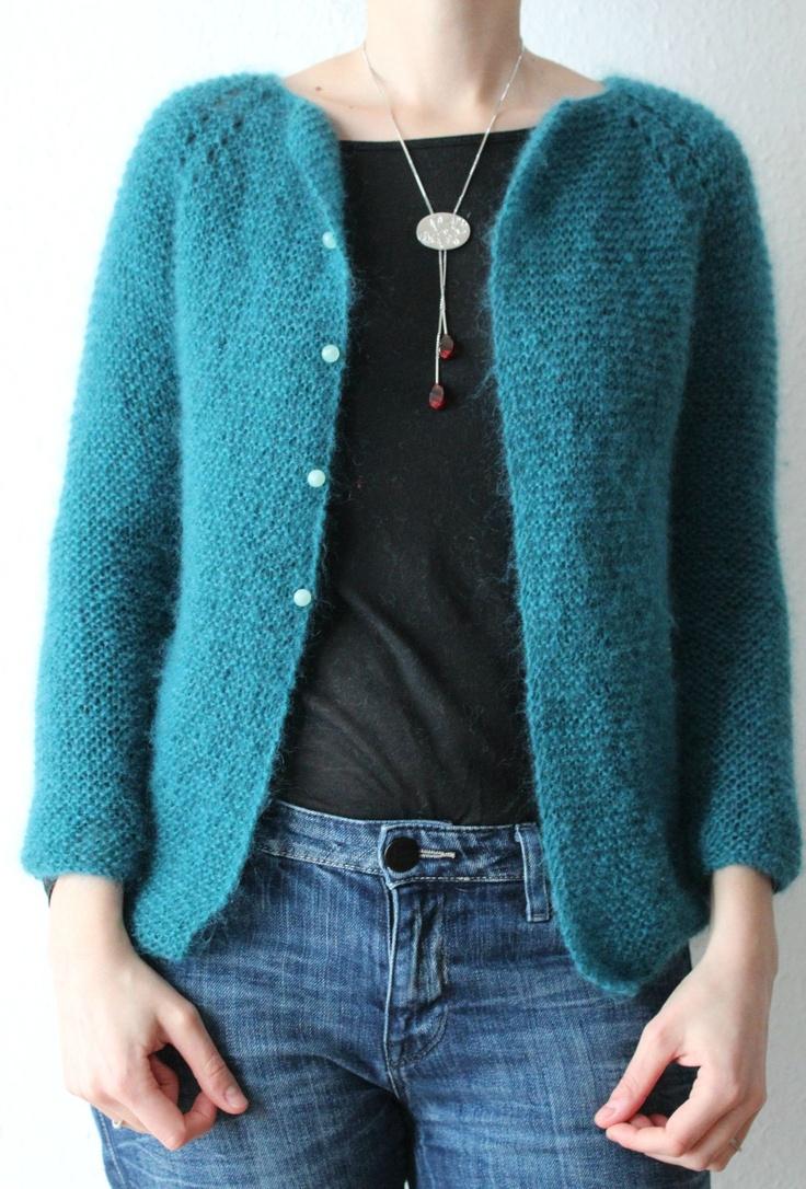 Cardigan raglan plumette la Droguerie / la droguerie plumette cardigan - Clairette tricote, (et autres petites choses avec ses 10 doigts)!