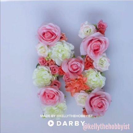DIY Floral Monogram for Decor and Parties #darbysmart #diy #diyprojects #diyideas #diycrafts