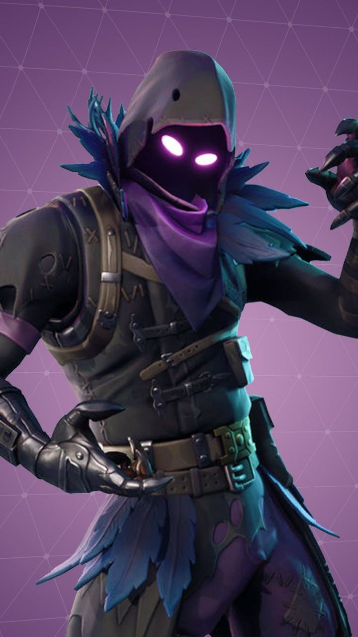 Fortnite, warrior, video game, Raven Skin, 720x1280