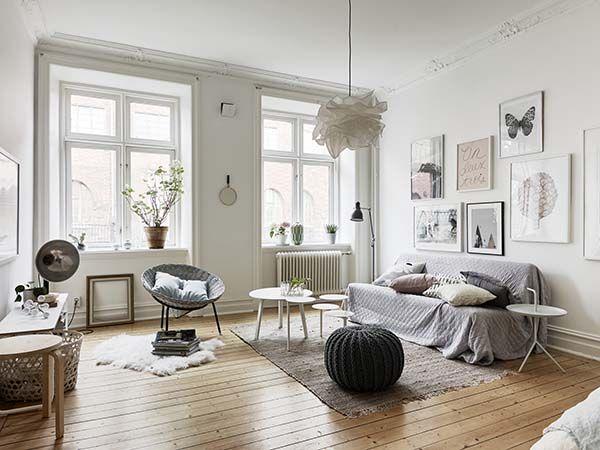 Cozy one Bedroom Scandinavian Designed Flat with Open Floor Plan