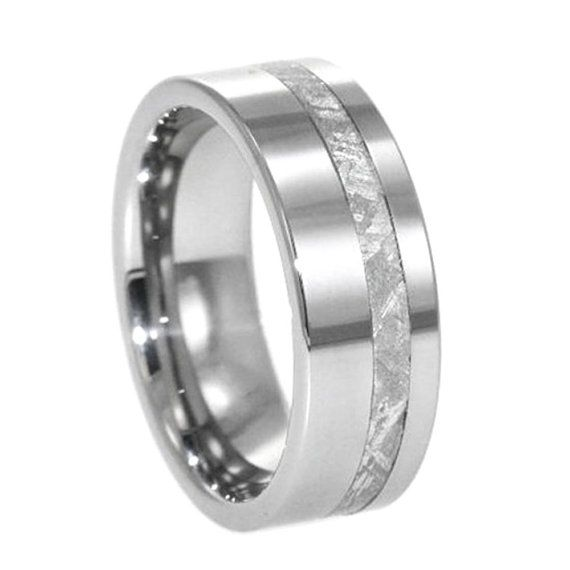 Simple Our tungsten meteorite rings pair one highly durable metal and out of this world style Authentic meteorite is the star of these unique rings
