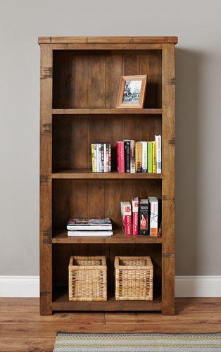 Rough Sawn Oak Large Open Bookcase #wood #oak #furniture #bookcase #books #storage #home #interior #decor #livingroom #lounge #bedroom #hallway