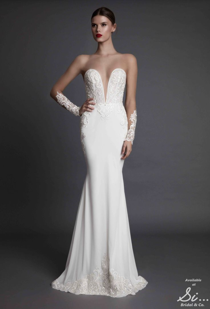 Alecia - Muse by BERTA - Brand new luxury diffusion line by the biggest name in Bridal, coming soon to www.sibridal.com #sibridal #muse #berta #musebyberta #weddingdress #bridal