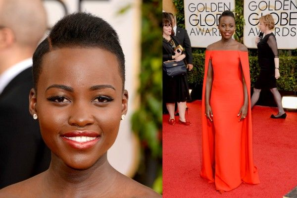 OMG - this dress.  Simply have to have it. Sourced from African Luxury Mag - Lupita Nyong at the Golden Globes