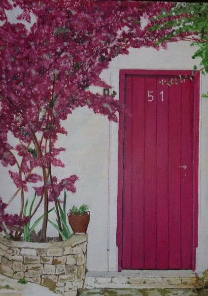 My painting - Pink door