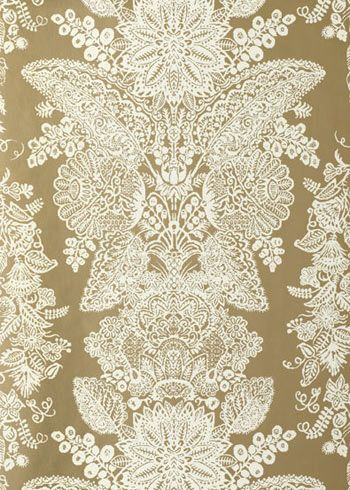 Reminds us of Victorian lace. Lace Champagne Wallpaper from @LaylaGryace