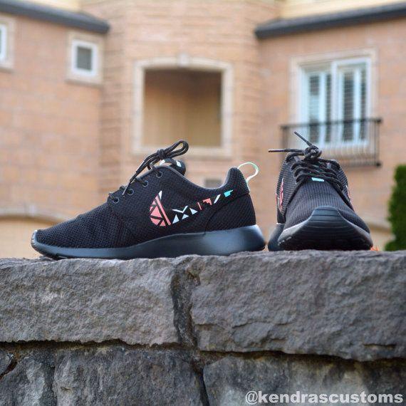 Roshe Tribal Print Custom Made to Order Womens Nike Rosherun Shoes Hand Painted on Etsy, $140.00