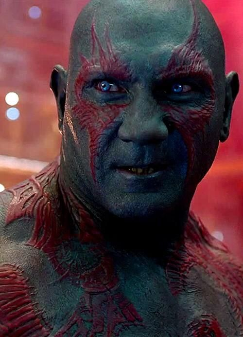 Drax the Destroyer - movie is Guardians of the Galaxy
