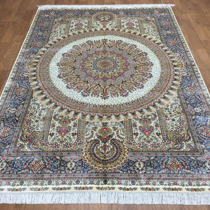 6' x 8' Chinese Silk Rug Handmade Silk Rugs for Bedrooms Attractive Oriental Rug