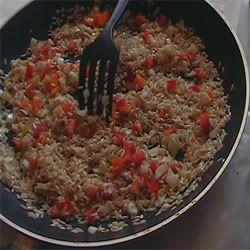 arroz integral con vegetales