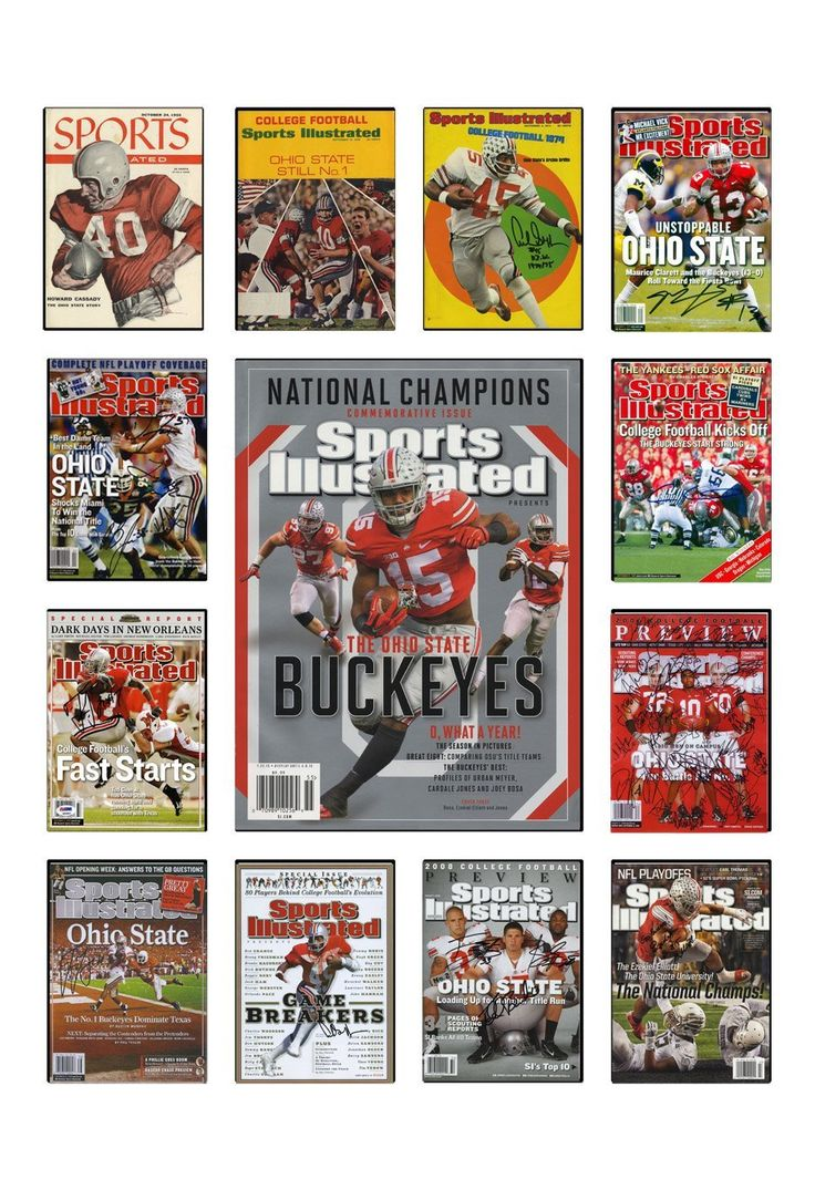 Ohio State Sports Illustrated Cover Collection Poster - Buckeyes