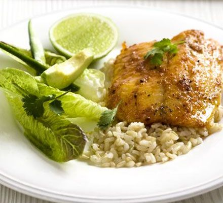 Spice up plain white fish fillets with Thai flavours in this healthy recipe