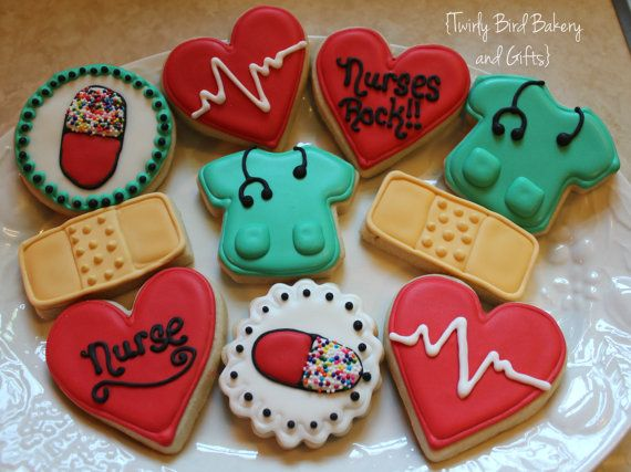 Nurse/Medical Themed Decorated Sugar Cookies by ...