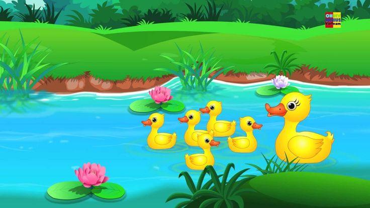 Five Little Ducks Rhyme | số năm vịt nhỏ hợp vần | vần điệu trẻ cho trẻ em