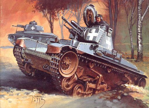 """Y ya que estamos con """"Jaro"""" Wróbel, y los carros checos, dedicado a Tritón por sus artículos sobre las armas checas del III Reich. Panzer 35 (t) durante la invasión de Polonia, 1939"""