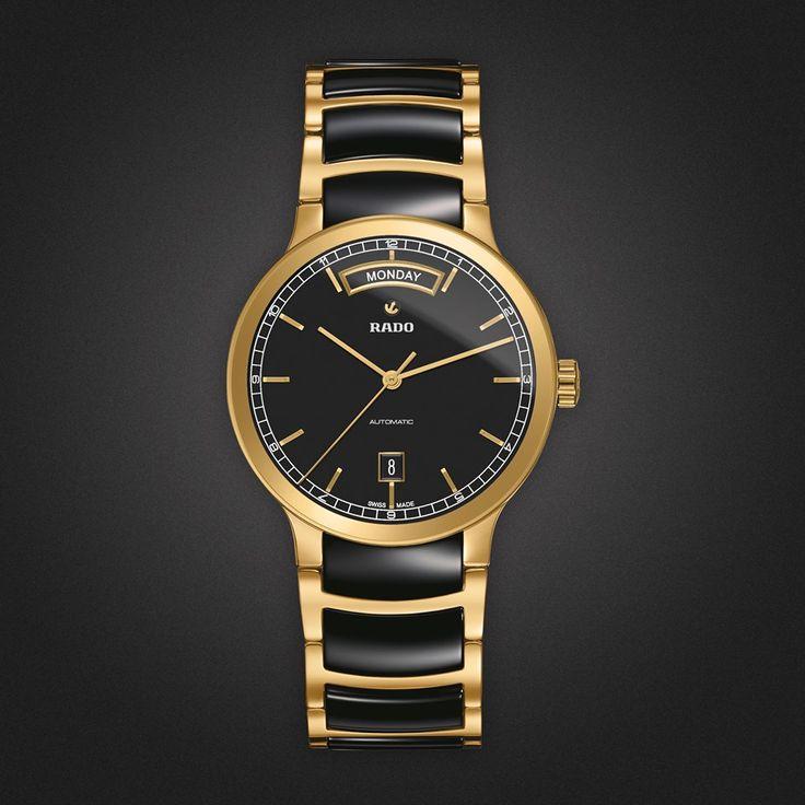 Descubre el nuevo RADO Centrix Day-Date, una línea de #relojes fabricados en acero inoxidable.