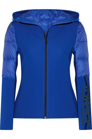 Fendi - Roma Stretch-jersey And Quilted Shell Down Jacket - Bright blue - IT42