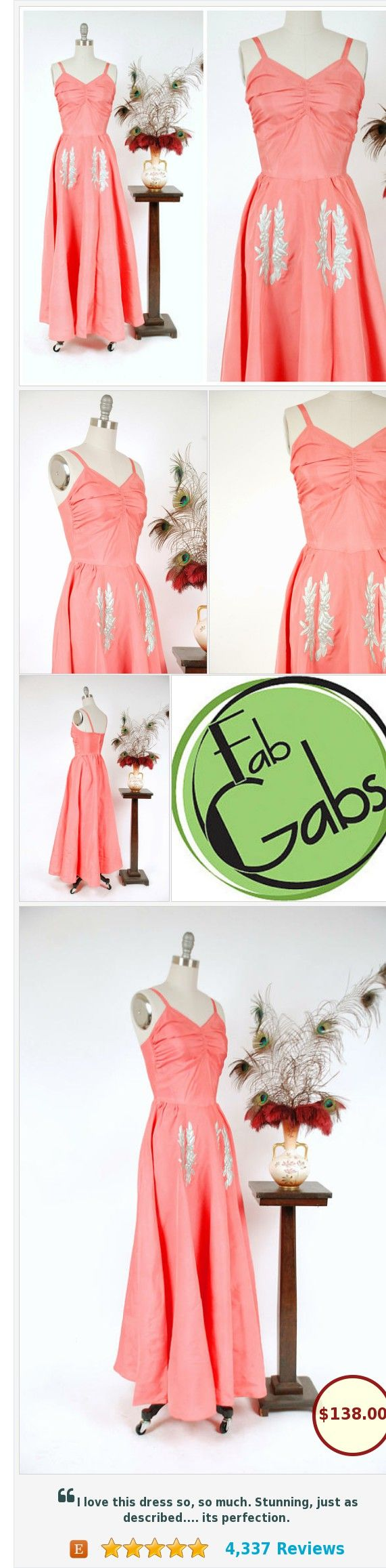 Vintage 1930s Dress - Gorgeous Coral Pink Acetate Summer Party Dress #etsy @fabgabsvintage https://www.etsy.com/FabGabs/listing/524022324/vintage-1930s-dress-gorgeous-coral-pink?ref=shop_home_active_15