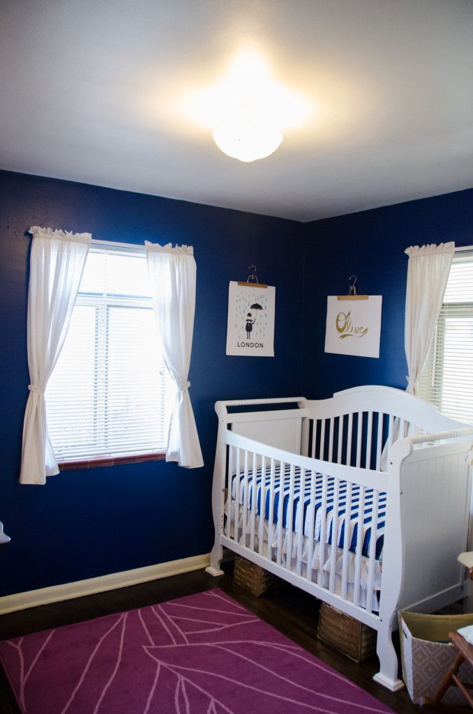Love navy in the nursery!: Navy Blue Walls, Kid S Bedrooms, Nursery Kids Rooms, Navy Baby, Baby Bliss, Baby Room, Blue Nursery