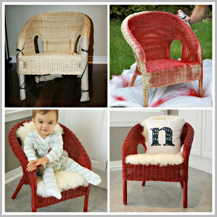 Materials: AGEN Description: I've been looking for a little chair for Nolan for a while. I wanted him to have a little spot that was all his own (granted
