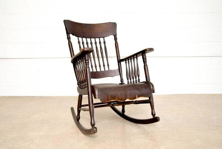 Antique Victorian Wooden Rocking Chair                      – Brass House