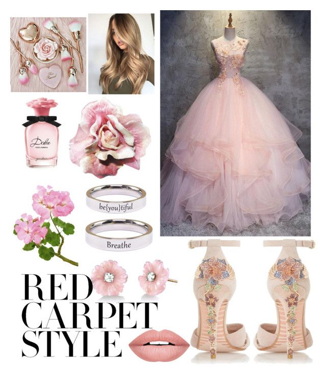 """Red Carpet Style ~ Floral Pink"" by drumeaclementina on Polyvore featuring Dune, Pink Box, Irene Neuwirth, Dolce&Gabbana, Forever 21, floral, Pink, redcarpetstyle and OscarsThrowback"