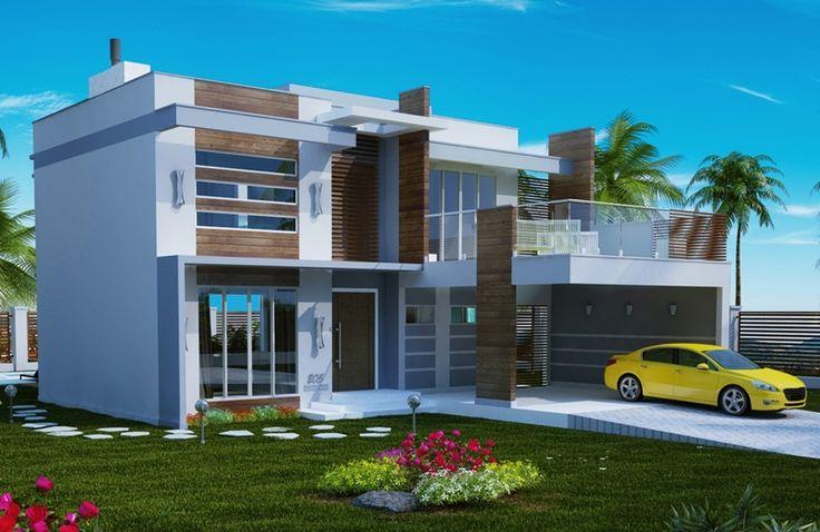 205 – Plantas de casas – fachadas esquerda