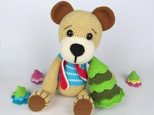 Medvídek s vánočním stromkem - návod